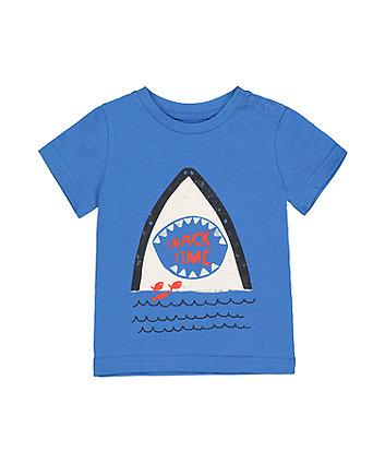 Mothercare Blue Shark Bite T-Shirt