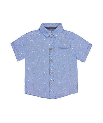 Mothercare Blue Anchor Oxford Shirt