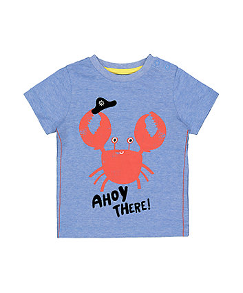 Mothercare Blue Ahoy There Crab T-Shirt