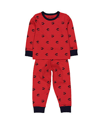 Mothercare Red Helicopter Pyjamas