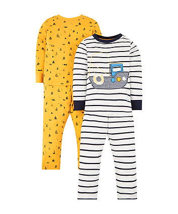 Mothercare Boat Pyjamas - 2 Pack