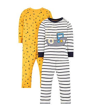 Mothercare Boat Pyjamas - 2 Pack