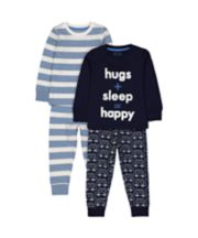 Mothercare Stripe And Car Pyjamas - 2 Pack