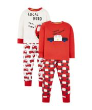 Mothercare Emergency Vehicle Pyjamas - 2 Pack