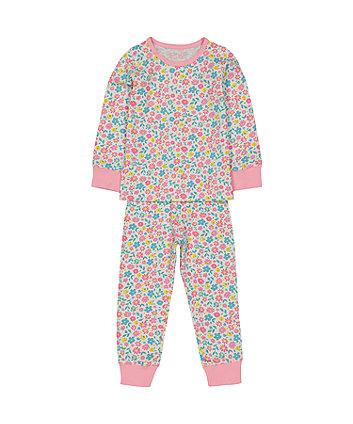 Mothercare Pink Flower Pyjamas