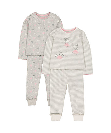 Mothercare Ballerina Pyjamas - 2 Pack