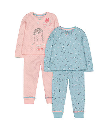 Mothercare Make A Wish Pyjamas - 2 Pack