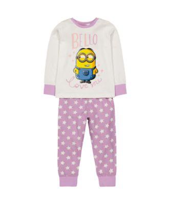 Mothercare Girls Minions Pyjamas