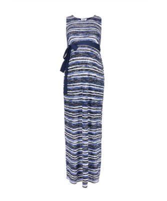Mothercare Blue Print Maxi Maternity Dress