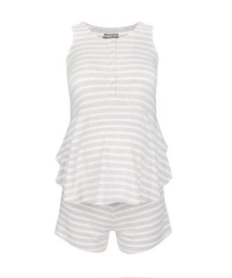Mothercare Stripe Peplum Maternity Shorty PJ Set