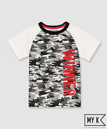 Mothercare My K Camo Winner T-Shirt