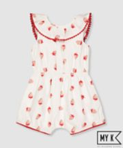 Mothercare My K Red Cat Playsuit