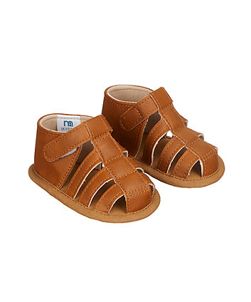 Mothercare Tan Fisherman Baby Sandals