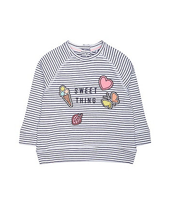 Mothercare Sweet Thing Stripe Sweat Top
