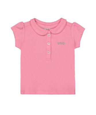 Mothercare MC61 Pink Pique Short Sleeve Polo Shirt