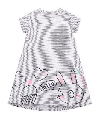 Mothercare MC61 Hello Bunny Stripe Short Sleeve Dress