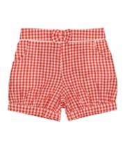 Mothercare Red And White Bow Gingham Shorts