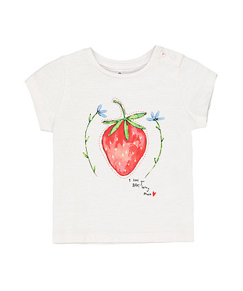 Mothercare White Strawberry T-Shirt