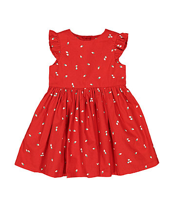 Mothercare Red Strawberry Dress