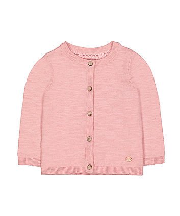 Mothercare Pink Knit Cardigan