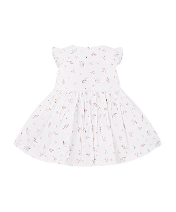 Mothercare White Floral Dress