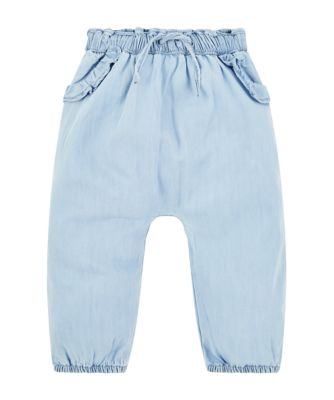 Mothercare Pastel Peace Light Wash Denim Trousers