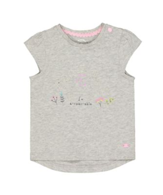 Mothercare Pastel Peace A-Roar-Able Short Sleeve T-Shirt