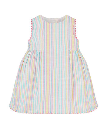 Mothercare Multicolour Pastel Stripe Prom Dress