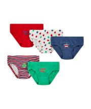 Star And Stripe Briefs - 5 Pack