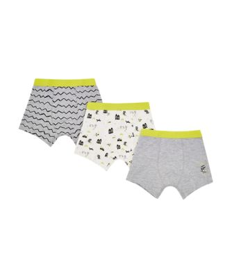 Mothercare Grey Zig Zag Trunks - 3 Pack