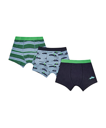 Mothercare Crocs And Cars Trunks - 3 Pack