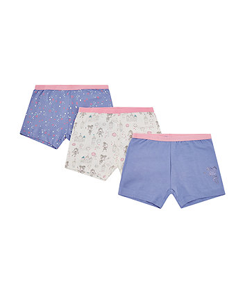 Mothercare White Fairy Princess Shorts - 3 Pack