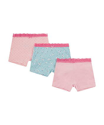 Mothercare Pink Floral Shorts - 3 Pack