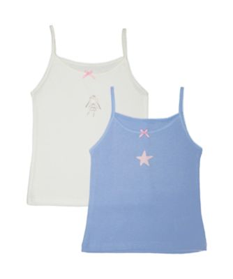 Mothercare White Fairy Princess Vests - 2 Pack