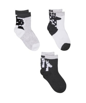 Mothercare Novelty Animal Socks - 3 Pack