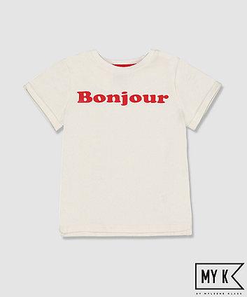 Mothercare My K White Bonjour T-Shirt