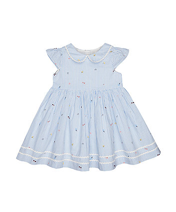 Mothercare Blue Striped Dress