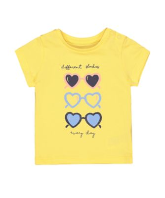 Mothercare Sunny Cove Yellow Sunglasses T-Shirt