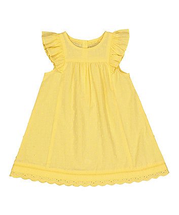 Yellow Dobby Dress