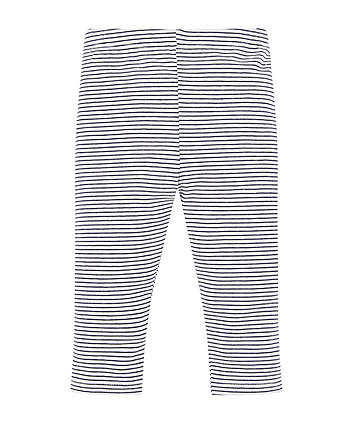 Navy Striped Leggings