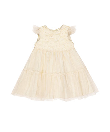 Mothercare Flower Appliqué Tiered Occasion Dress
