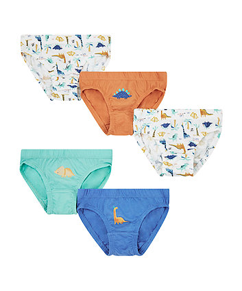 Mothercare Dinosaur Briefs - 5 Pack