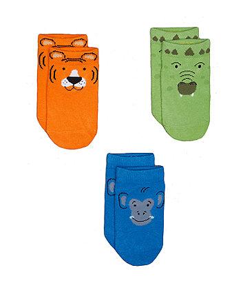 Mothercare Animal Trainer Socks - 3 Pack