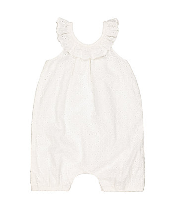 Mothercare White Broderie Romper