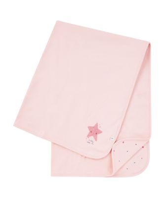 Mothercare Girls Seaside Pink Daddy'S Little Star Shawl