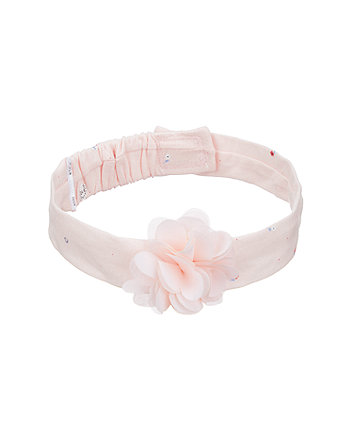 fd251e171f0 mothercare ροζ κορδέλα μαλλιών με λουλούδι