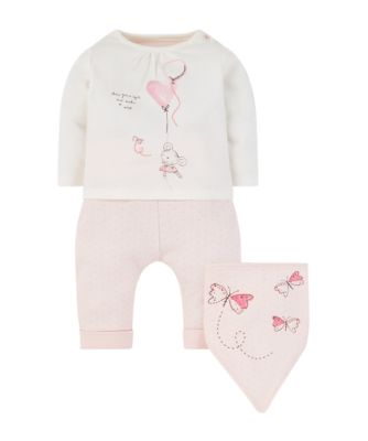 Mothercare My First Little Bunny T-Shirt, Joggers And Bib Set