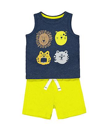 Mothercare Animal T-Shirt And Shorts Set