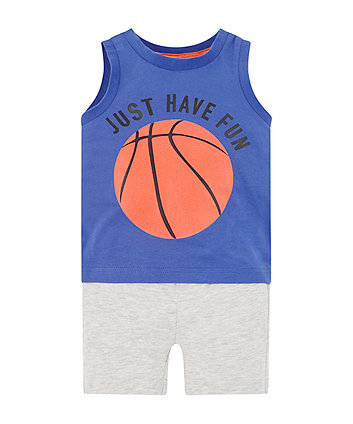 Mothercare Basketball Shorts And T-Shirt Set