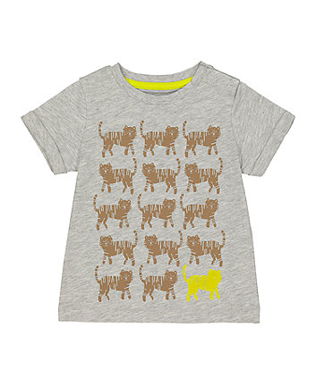 Mothercare Grey Tiger T-Shirt
